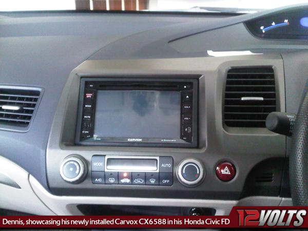 CARVOX CX6588 installed on Honda Civic FD