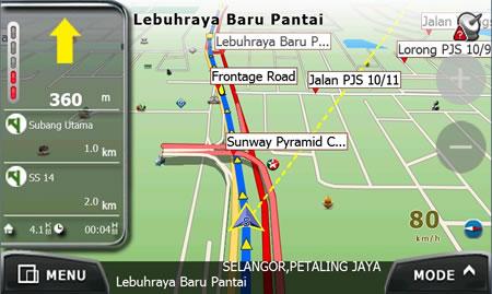 PowerMap - Elevated Road