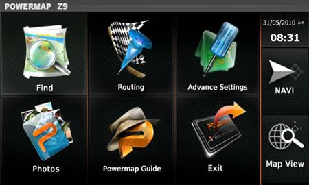 PowerMap - Main Menu