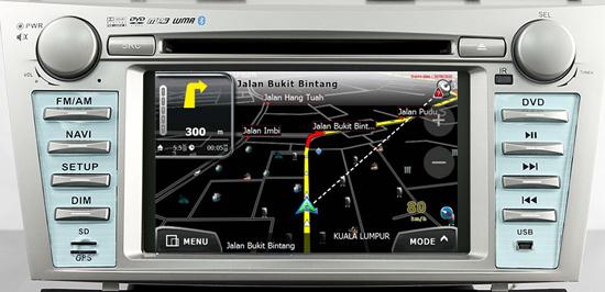 Toytoa Camry DVD Player with PowerMap GPS - 3D Night Mode View