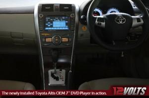 10.5G Toyota Altis Head Unit Shot