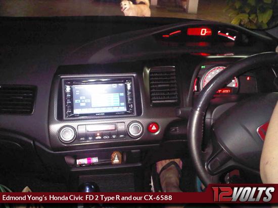 12V Customer Corner - Edmond Yong's Honda Civic FD2 Type R with our CX-6588 DVD Player
