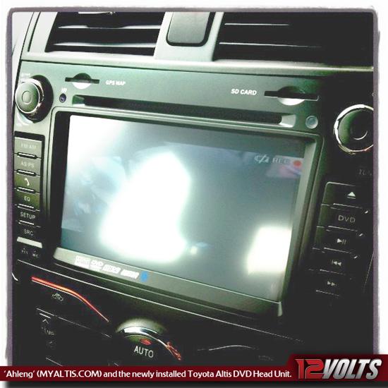 Ahleng (MyAltis.com's Forum Member) installed the Toyota Altis Head Unit in Bintulu, Sarawak.