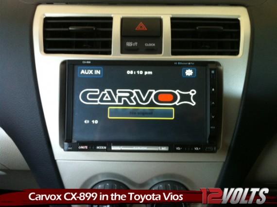 The Carvox CX-899 in Alex's Toyota Vios