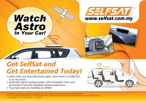 SelfSat in-motion Satellite Antenna