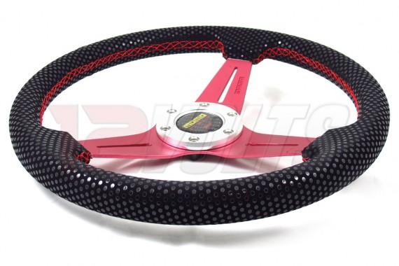 """Momo V.I.P. Style Red 14"""" Steering Wheel"""