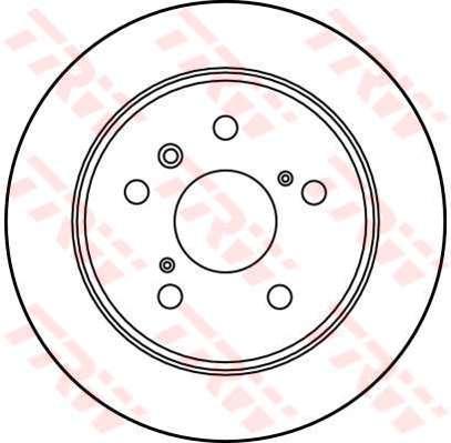DF2661 - TRW Brake Disc Rotor for TOYOTA CAMRY SXV10R, SXV20R, IPSUM (R)