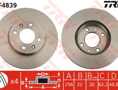 DF4839 – TRW Brake Disc Rotor for KIA RIO 1.4, 1.6 HYUNDAI ACCENT (F)