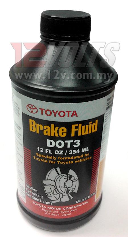 TOYOTA Brake Fluid DOT 3(G) WHITE for all Toyota Vehicles