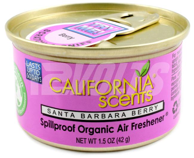 California Scents Organic Spill Proof Air Freshener - Santa Barbara Berry, Purchase Online, Ship Worldwide