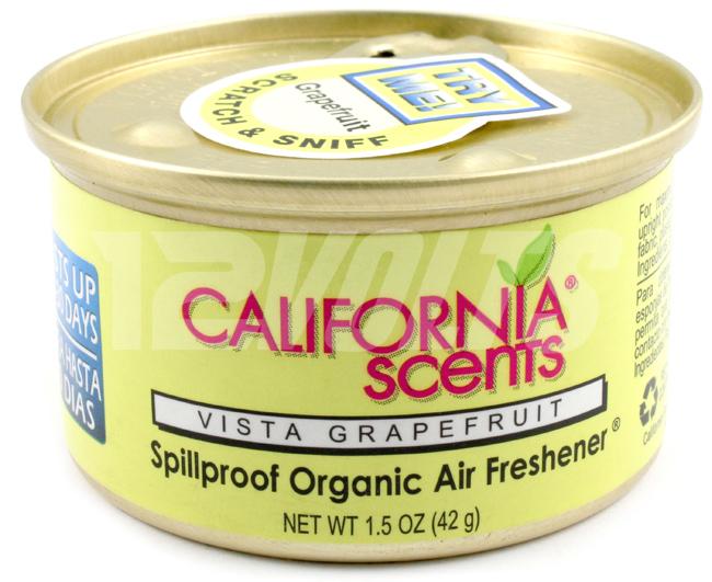 California Scents Organic Spill Proof Air Freshener - Vista Grapefruit, Purchase Online, Ship Worldwide