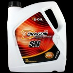 S-Oil Dragon SN Semi Synthetic Petrol Engine Oil 10W40 4 litres Made in Korea