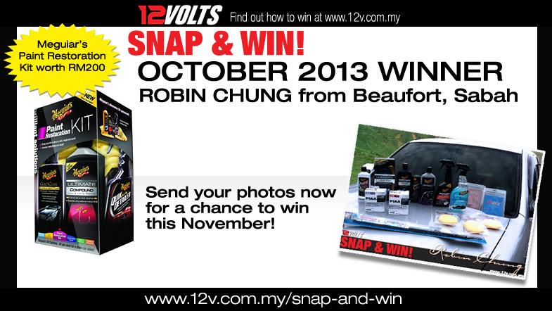Snap & Win October 2013 Winner
