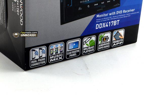 Kenwood DDX417BT Fasmoto Unboxed