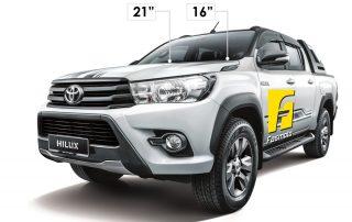 PIAA Toyota Hilux 2017 Wiper Size Measurement
