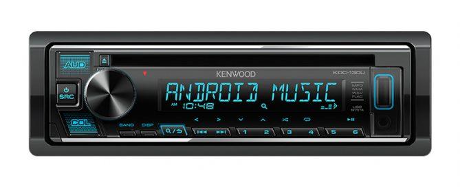 KENWOOD KDC-130U Single DIN USB CD FM AM Shortwave Car Radio Receiver 2 Preouts