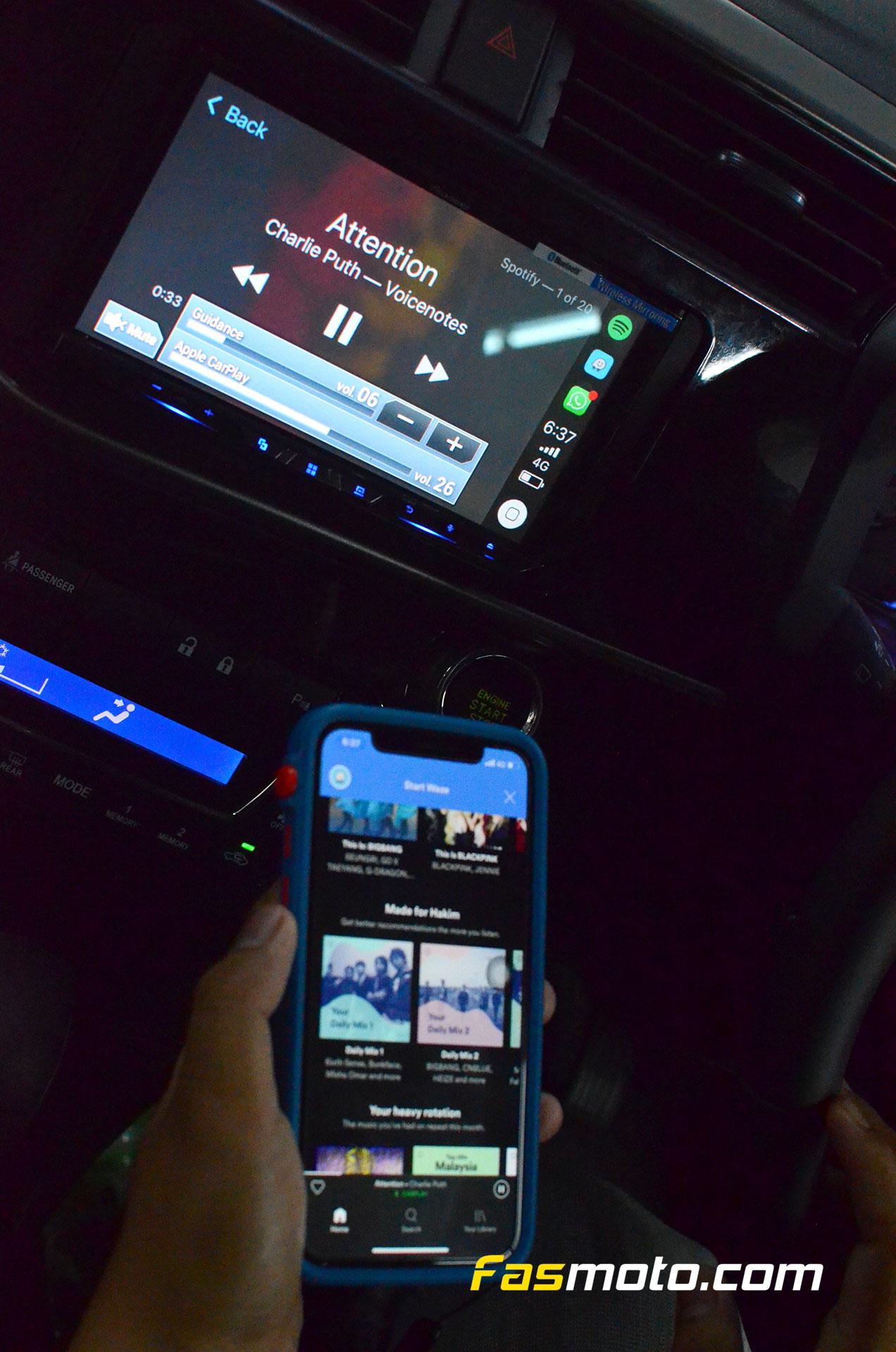 Spotify via Wireless Apple CarPlay