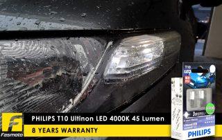 PHILIPS 129334000KX2 T10 Ultinon LED 4000K 45 Lumen 12V Twin Pack for Honda City