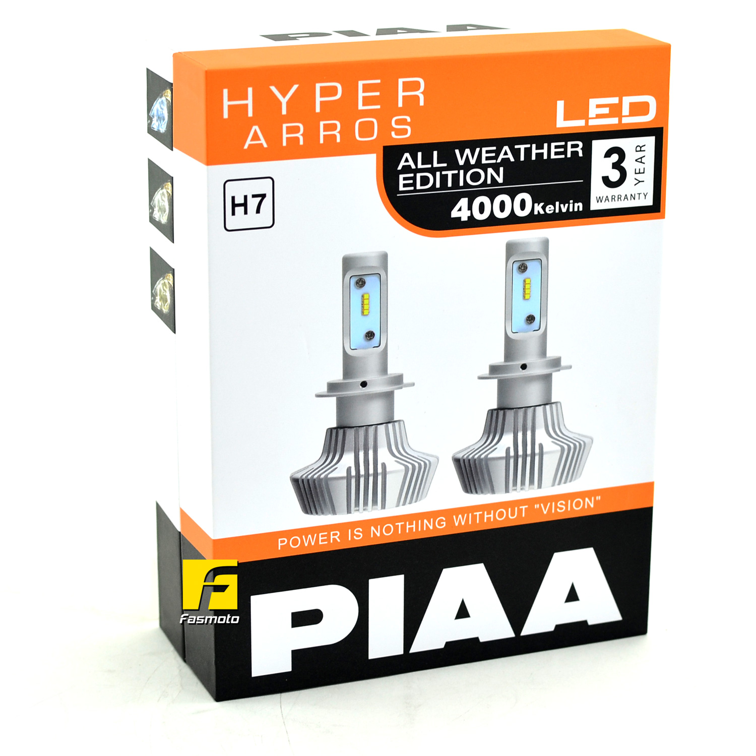 Genuine PIAA LEH133E Hyper Arros All Weather Edition 4000K LED for H7 bulb replacement with 3 Years PIAA Malaysia Warranty