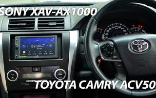 Toyota Camry ACV50 with the Sony XAV-AX1000 installed