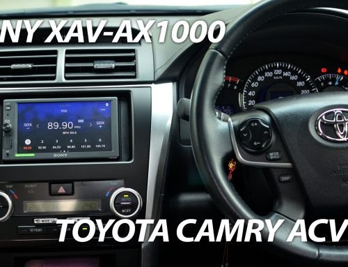 Toyota Camry ACV50 5th Gen Sony XAV-AX1000 and 2 Way Camera Interface