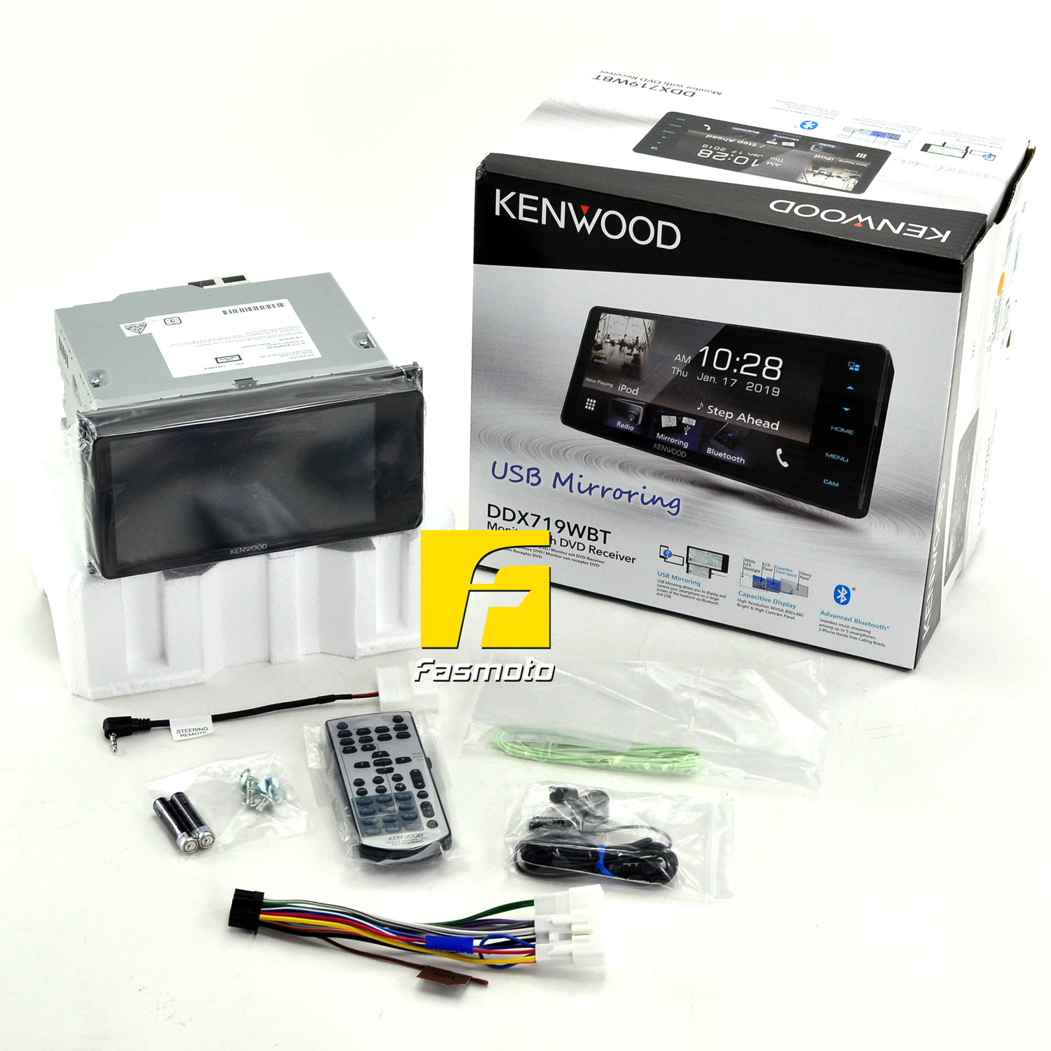 """Kenwood DDX719WBT 6.95"""" Capacitive Touch Screen USB Mirroring Spotify Bluetooth DVD 200mm Receiver"""