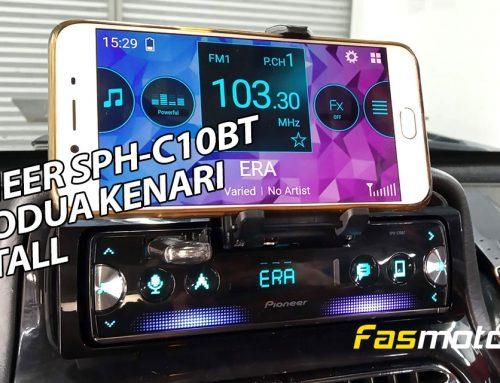 Pioneer SPH-C10BT Installed in the Perodua Kenari