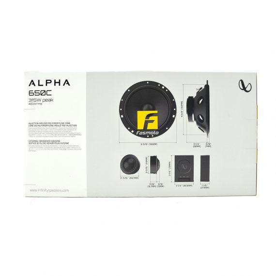 INFINITY Alpha 650C 6-inch 2-Way Component System Speakers 45W RMS, 315W Peak