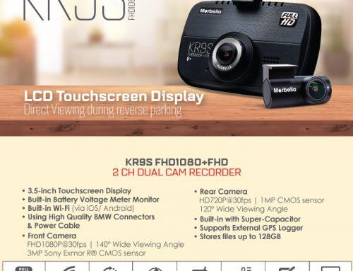 MARBELLA KR9S FHD Dual Dash Cam WiFi 24 Hours Recording Sony Exmor 32GB Memory