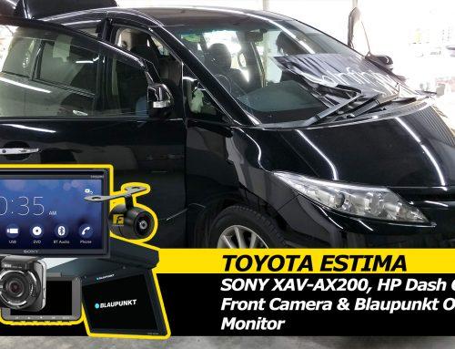 Toyota Estima Sony XAV-AX200, Front Camera, Blaupunkt Overhead Monitor and HP Dual Dash Cam Install