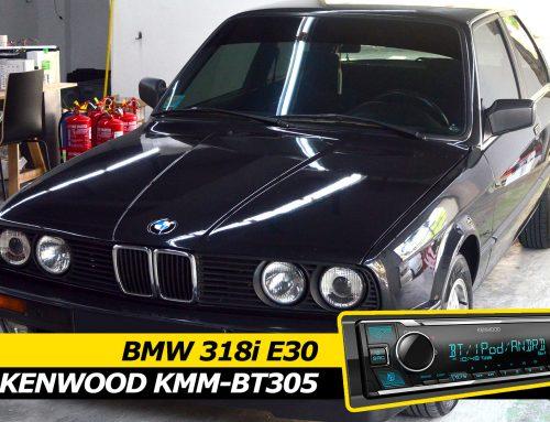 BMW E30 318i Kenwood KMM-BT305 Single DIN replacement