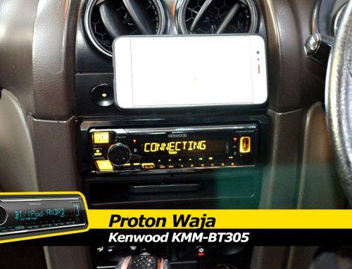 Proton Waja Kenwood KMM-BT305 Single DIN install