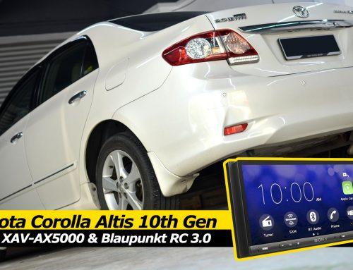 Toyota Corolla Altis 10th Gen Sony XAV AX5000 Blaupunkt RC 3 Install