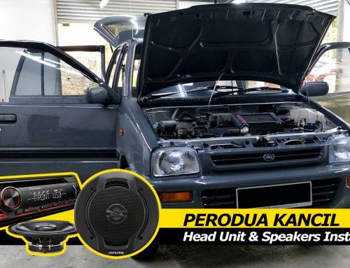 Perodua Kancil Pioneer DEH-S1150UB Head unit and Alpine SPJ-161C2 Install
