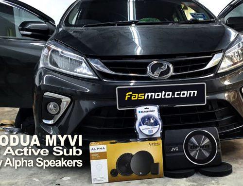 Perodua Myvi Advance 3rd Gen JVC CW-DRA8 Active Sub Infinity Alpha 650C Speakers Install