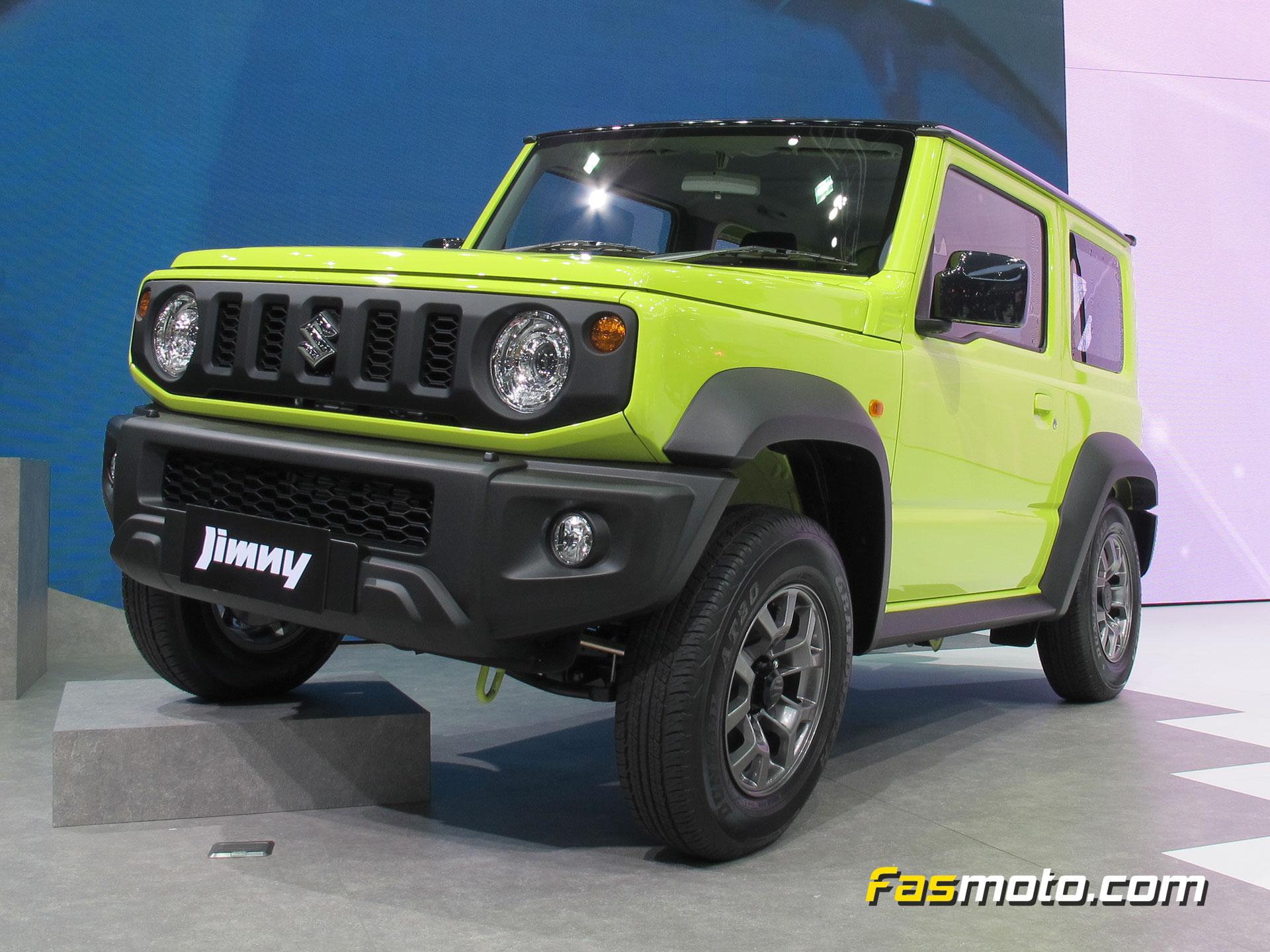 Lime green Suzuki Jimny