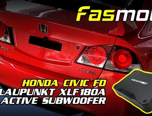 Honda Civic FD Blaupunkt XLF180A Underseat Subwoofer Install