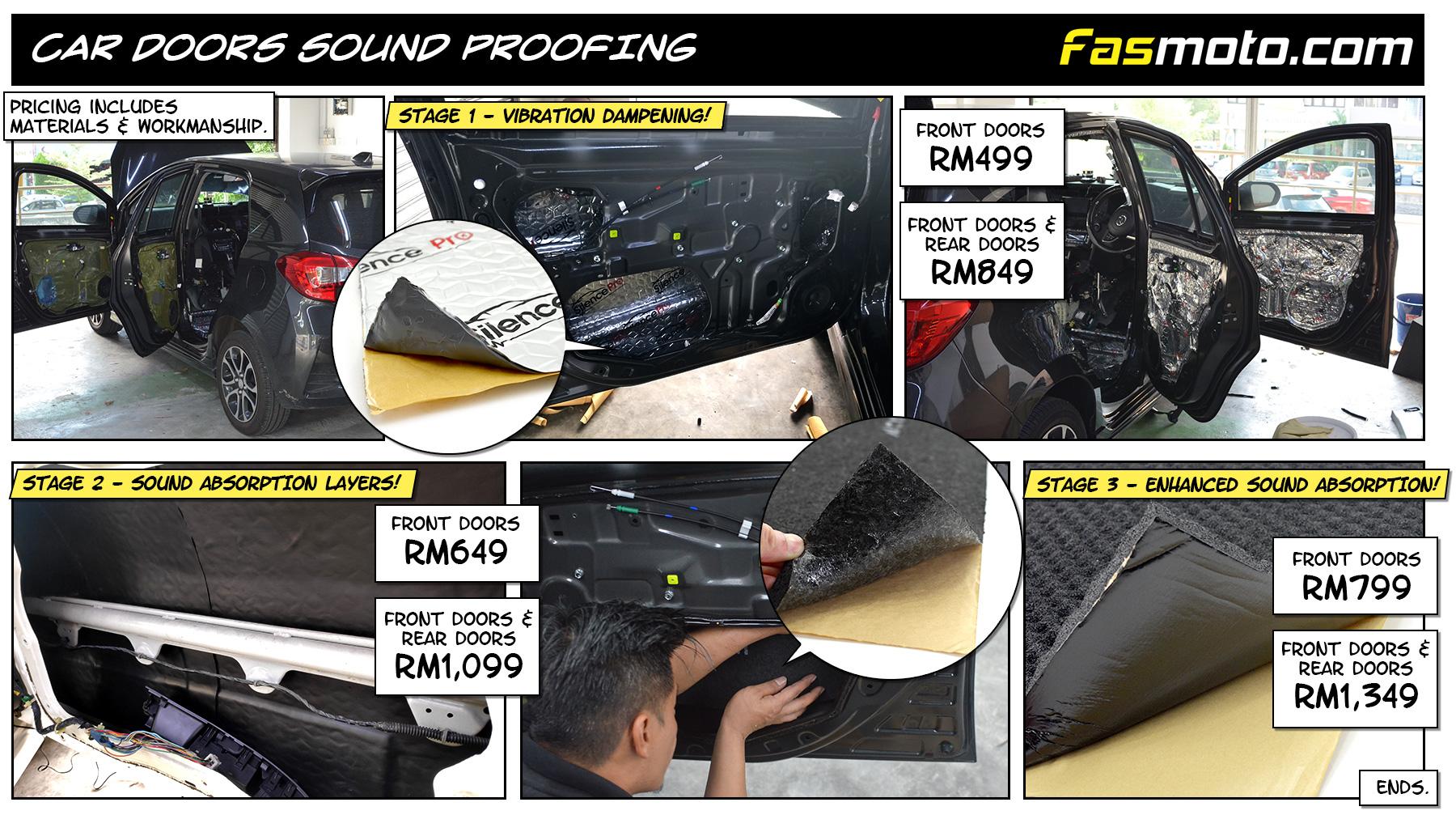 Car Doors Sound Proofing Malaysia, Kuala Lumpur, Klang Valley