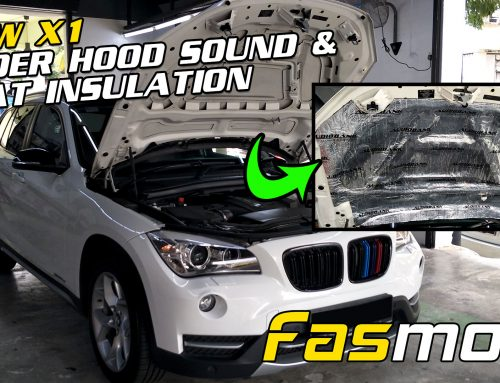 BMW X1 E84 Under Hood Bonnet Sound and Heat Insulation