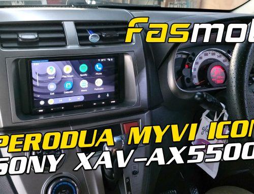 Perodua Myvi 2nd Gen ICON Sony XAV AX5500