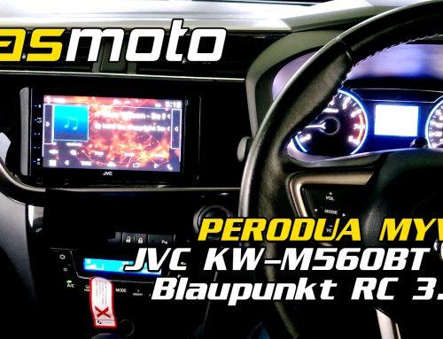 Perodua Myvi 3rd Gen JVC KW M560BT Blaupunkt RC 3.0 Install