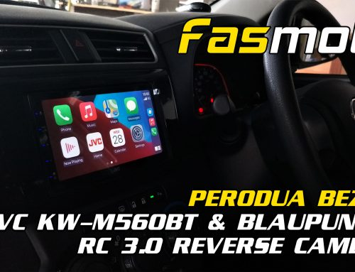 Perodua Bezza JVC KW-M560BT and Blaupunkt RC 3.0 rear Camera Install