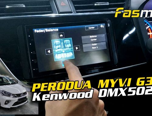 Exploring the UI on the Kenwood DMX5020S on Dareil's Perodua Myvi Advan G3