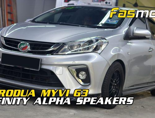 Perodua Myvi G3 Infinity Alpha Speakers install