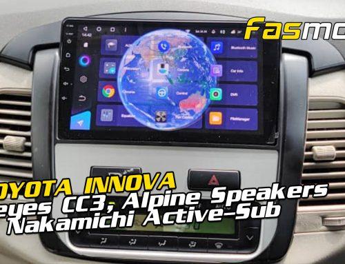 Toyota Innova Teyes CC3, Alpine S-Series speakers, Audiobank amplifier  & Nakamichi active subwoofer